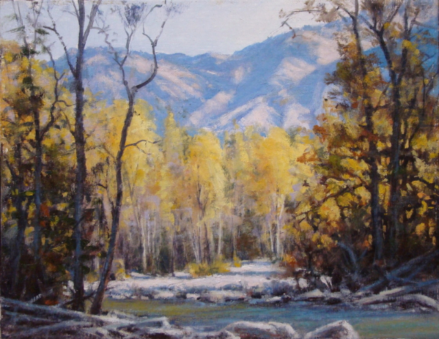 Aspen Creek by Bruce Peil Oil ~ 8 x 10