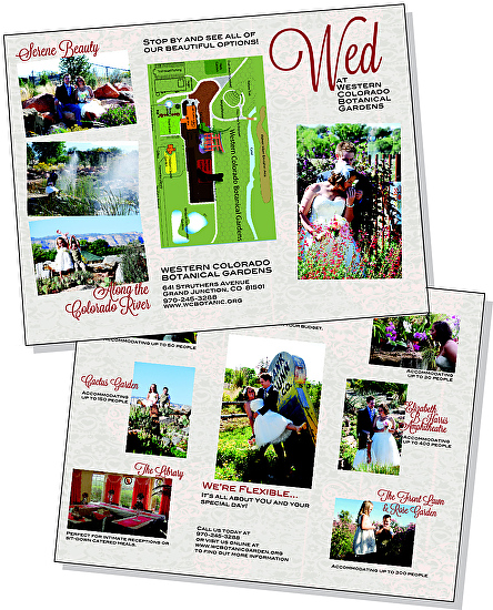 Layout Design Sample  Tri Fold Brochure, Weddings At Botanical Gardens By  Sheri Ray